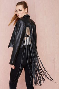 #BLACKFRIDAY STEALS | Nasty Gal Leather - The Misfit Fringe Jacket - $245