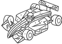 Sport Car Race Coloring Page