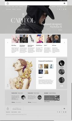 7 story layout before the fold News Web Design, Web Design Trends, Web Design Company, Web Layout, Layout Design, Ux Design, Design Ideas, Capitol Couture, Webdesign Inspiration