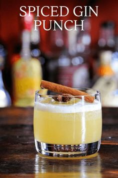 This Spiced Gin Punch is full of fall flavor with cinnamon and star anise in the simple syrup. Gin and pineapple juice are great with the spiced syrup for an autumn sipper. #cocktails #recipe #pineapple Holiday Punch, Gin Lovers, Star Anise, Classic Cocktails, Craft Cocktails, Pineapple Juice, Simple Syrup, Tequila, Holiday Parties