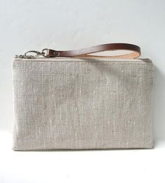 Linen and Leather Clutch by Independent Reign on Scoutmob Shoppe Retikül  Táska a838176975