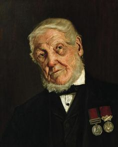 Portrait Of Sergeant Major John Dickson A Waterloo Veteran and famous for capturing a French eagle.