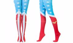 DC Comics Wonder Woman 1 Pair Tights One Size Fits Most Costume Cosplay Suit Up…