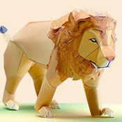 how to make lion prop | Toys Papercraft | make anything with paper: Lion Model