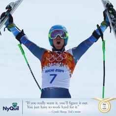 Big Congrats go out to Ted Ligety on winning GOLD! Just like your mom we knew you could do it .
