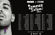 """Drake Adds Shows """"Summer Sixteen Tour"""" With Future"""