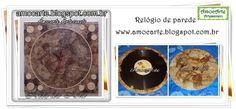 Relógio de parede - disco de vinil + filtro http://www.amocarte.blogspot.com.br/