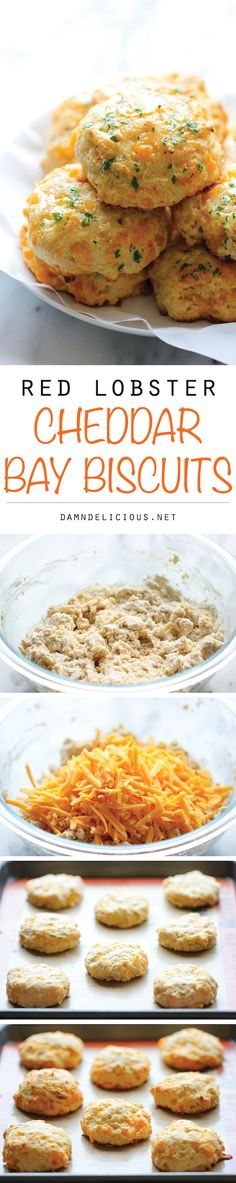 *Red Lobster Cheddar Bay Biscuits - These copycat biscuits are so easy to make in just 20 min, and they taste a million times better!