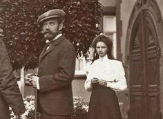 """Tsar Nicholas II and his second child, Grand Duchess Tatiana Nikolaevna, visiting relatives in Germany """