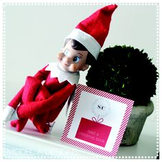 Elf On The Shelf printable notes and countdown numbers