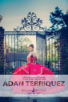 The girl in red. Quinceanera Dresses 2016, Mexican Quinceanera Dresses, Quinceanera Ideas, Homecoming Dresses, Prom, Quince Dresses, 15 Dresses, Disney, Beauty