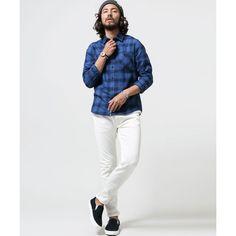 インディゴチェックシャツ   ナノ・ユニバース メンズ(nano universe)   ファッション通販 マルイウェブチャネル[TO911-002-82-01]