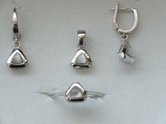 $49 925 STERLING SILVER SET, info@bijuterie-online.ro 925 Silver, Sterling Silver, Pearl Earrings, Pearls, Jewelry, Women, Pearl Studs, Jewlery, Jewerly