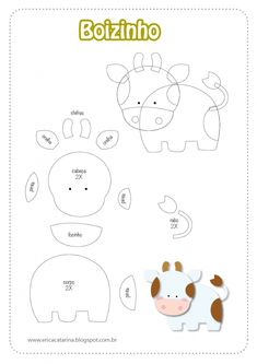 Lots of free felt patterns Felt Animal Patterns, Quiet Book Patterns, Stuffed Animal Patterns, Felt Farm Animals Pattern, Animal Templates, Felt Templates, Printable Templates, Quiet Book Templates, Applique Templates