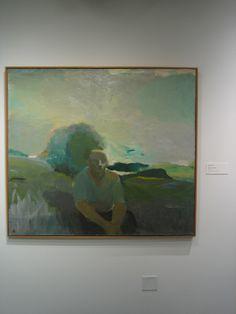 Figure in Landscape, c. 1957, Elmer Bischoff, Oakland Museum of California _ 9489 | Flickr - Photo Sharing!