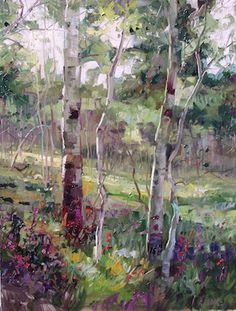 robert moore paintings | On My Easel #5: Oil Painting Demo of Aspen Trees