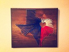 Texas State Texas Flag String Art Nail Art by StartActinLikeaLady