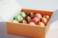 Macarons from Little Oven: Delicious assorted macarons, in fleur de sel, pistachio, chocolate, and passion fruit