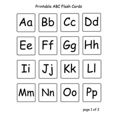 upper and lower case alphabet letters | Printable Preschool Three Letter Words with Photos and Flash Cards to ...