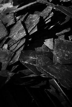 Slate Pile at the Burts Pit Quarry in Florence, MassachusettsHenri de Toulouse-Lautrec. Bartet et Mounet-Sully dans Antigone. 1893 ●彡 The Effective Pictures We Offer You About rock Stone Black Noir, Black And White, Black Dark, Color Black, Art Texture, Stone Texture, Backgrounds Wallpapers, Shades Of Black, Textures Patterns
