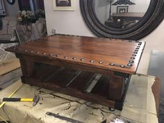 Clearance Wood Turned Into a Gorgeous Coffee Table.