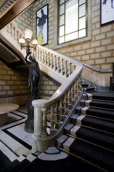 Our imposing marble staircase at the Cotton House Hotel in Barcelona - #CottonHouseHotel