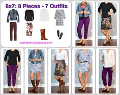 outfit post: fall 8x7 - 8 pieces - 7 outfits - Outfit Posts
