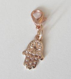 Charms - Charms Anhänger rosegold Hand Fatima - ein Designerstück von soschoen…