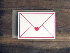 Love letter card by 10antemeridiem on Etsy, $4.00