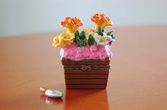 Limoges Style Flower Garden Hinged Trinket Box, Tiny Floral Pottery Box, Porcelain Treasure Box, Mothers Day Gift - SOLD!