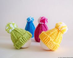Easter Decor  Easter Egg Pom Pom Hats  Spring Egg by natalya1905, $29.95
