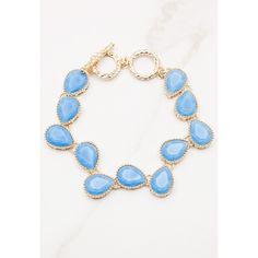 Sans Souci Tear drop charm bracelet (645 DOP) ❤ liked on Polyvore featuring jewelry, bracelets, gold, gold jewellery, tear drop jewelry, gold jewelry, gold charm bracelet and gold bangles
