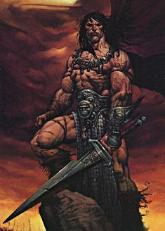 Image about conan in Fantasy 🌿💎🌟🏰 by Meek on We Heart It Conan Comics, Arte Dc Comics, Fantasy Images, Fantasy Artwork, Dark Fantasy, Sci Fi Fantasy, Comic Books Art, Comic Art, Conan The Barbarian Comic