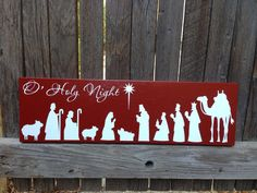 Christmas Decor Holiday Decor Mantle Decor Christmas Mantle Christmas Decoration Nativity Scene Christmas Sign Holiday Decoration Wood Sign by LilMissScrappy on Etsy Christmas Nativity, Christmas Wood, Christmas Projects, Holiday Crafts, Christmas Time, Christmas Ornaments, Etsy Christmas, Xmas, Holiday Signs