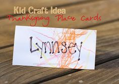 Kid Craft: Thanksgiving Place Cards