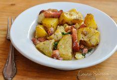 Cartofi la cuptor cu bacon și ceapă-rețetă rapidă.Cartofi la cuptor cu bacon și ceapă, o mâncare sau o garnitură gustoasă. Cartofi la cuptor cu bacon si ceapa. Polenta, Arancini, Baked Beans, Couscous, Lentils, Allrecipes, Italian Recipes, Quinoa, Risotto