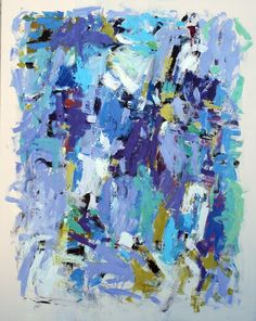 """Julie Schumer 60 X 48 in., """"Island Embrace"""" Acrylic on canvas"""