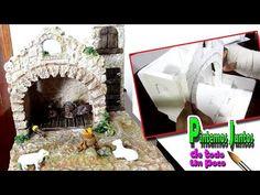 Como hacer encolados en movimiento - YouTube Christmas Crib Ideas, Portal, Nativity, Miniatures, Tetra Pack, Youtube, Video, Barbie, Diy