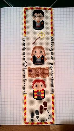 Cross Stitch Harry Potter Parody Bookmark by vampirexisses on Etsy                                                                                                                                                                                 More