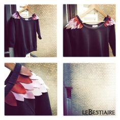 """Volatiles """"Shoulders"""" black sweat via lebestiaire. Click on the image to see more! 125€"""