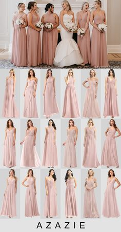 Shop for a large variety of vintage mauve bridesmaid dresses at Azazie. With bridesmaid dresses from Azazie, you are sure to find a dusty rose bridesmaid dress for the perfect look for your wedding. Dusty Rose Bridesmaid Dresses, Dusty Rose Dress, Mauve Dress, Wedding Dresses, Bridesmaids, Timeless Wedding, Party Looks, Vintage Roses, Wedding Colors