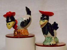 Vintage 1930s Cowboy Crows Salt Pepper Shakers Victoria Ceramics