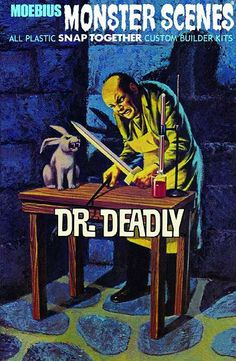 "More with Dr. Deadly and ""Friends"". Retro Toys, Vintage Toys, Retro Vintage, Horror Action Figures, Horror Font, Plastic Model Kits, Plastic Models, Horror Nights, Classic Monsters"