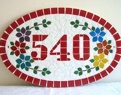 Numero mosaico Oval Grande