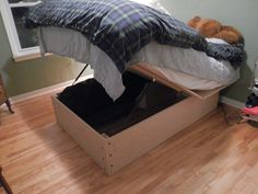 DIY Bed Frame with Storage | Do it yourself storage bed frame – How we built an under the ...