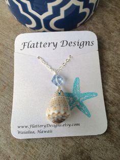 Hawaiian Cone Shell Necklace by FlatteryDesigns on Etsy