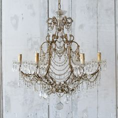 Eloquence® 1890 Antique 6-Arm Swag Chandelier $5170.00 #thebellacottage #lighting