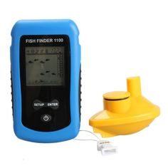 Fishing: Vktech Wireless Sonar Fish Finder 125KHz 90°Beam Angle Fishing Alarm Waterproof >>> You can get more details by clicking on the image.