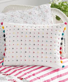 Look at this #zulilyfind! Hand-Stitched X's & O's Pillow #zulilyfinds
