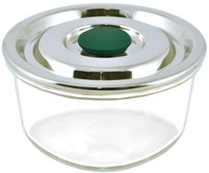 Plastic-Free Airtight Glass Container w/ Stainless Steel Lid